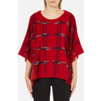 Boutique Moschino Women's Cape Jumper - Red - M - Red