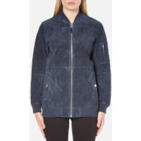 OBEY Clothing Womens Nomads Suede Jacket - Navy - XS