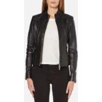 BOSS Orange Womens Janabelle Leather Jacket - Black - EU 34