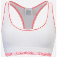 Calvin Klein Womens Modern Cotton Bralette - White/Bright Nectar - S