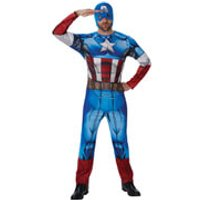 Marvel Avengers Mens Captain America Fancy Dress - XL
