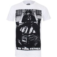 Star Wars Mens Vader Father Photo T-Shirt - White - S