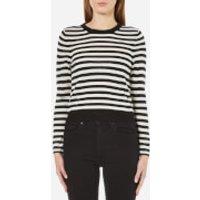Cheap Monday Womens High Stripe Knitted Jumper - White - L/UK 12