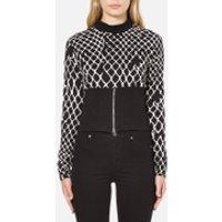 Cheap Monday Womens Vote Sweat Fence Sweatshirt - Black - XS/UK 6