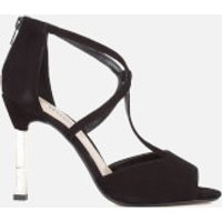 Dune Womens Melody Suede Heeled Sandals - Black - UK 8