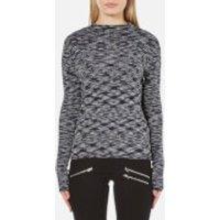 Vero Moda Womens Adinah Long Sleeve Funnel Neck Top - Navy Blazer - XS
