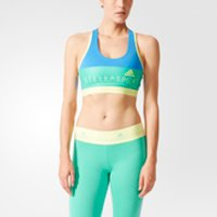 adidas Womens Stellasport Gym Bra - Blue/Yellow - S/UK 8-10