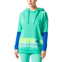 adidas Womens Stellasport Long Gym Hoody - Green/Blue - XS/UK 4-6