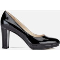 Clarks Womens Kendra Sienna Patent Platform Court Shoes - Black - UK 4