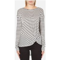 MINKPINK Womens Manhattan Long Sleeve Stripe Top - Black/White - S