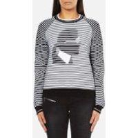 Karl Lagerfeld Womens Karl Head Jacquard Sweatshirt - Black/White - M - Black