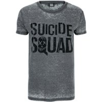 DC Comics Mens Suicide Squad Logo T-Shirt - Grey - XL