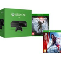 Xbox One 1TB Console - Includes Rise of the Tomb Raider + Mirrors Edge Catalyst