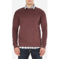 Selected Homme Mens Otto Crew Neck Sweatshirt - Bitter Chocolate - M