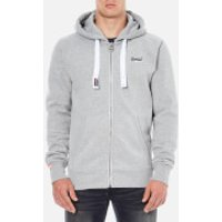 Superdry Mens Orange Label Zip Hoody - Grey Marl - S