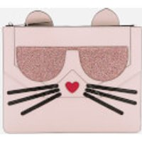 Karl Lagerfeld Womens K/Kocktail Choupette Big Pouch - Sea Shell