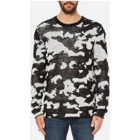 Cheap Monday Mens Moe Easy Invader Jumper - Off White - XL