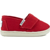TOMS Toddlers Seasonal Classics Slip-On Pumps - Red - UK 3/US 4 Toddlers
