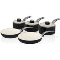 Swan Retro Pan Set - Black (5 Piece)