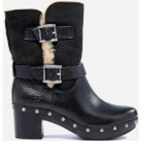 UGG Womens Brea Clog Suede Buckle Boots - Black - UK 4.5