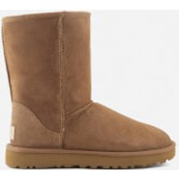 UGG Womens Classic Short II Sheepskin Boots - Chestnut - UK 7.5
