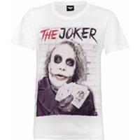 DC Comics Mens Batman Joker Cards T-Shirt - White - L
