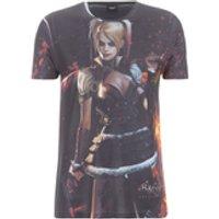DC Comics Mens Batman Harley Quinn T-Shirt - Black - L