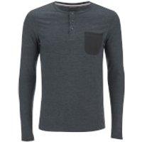 Produkt Mens Contrast Pocket Long Sleeve Top - Black Navy Melange - XXL