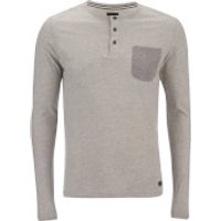 Produkt Mens Contrast Pocket Long Sleeve Top - Light Grey Melange - XXL