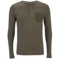 Produkt Mens Contrast Pocket Long Sleeve Top - Forest Night Melange - XXL