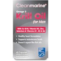 Cleanmarine Krill Oil for Men - 60 Gel Capsules (600mg)