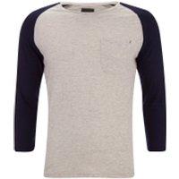 Produkt Mens 3/4 Sleeve Raglan Top - White Melange - XXL