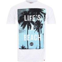 Hot Tuna Mens Lifes A Beach T-Shirt - White - S