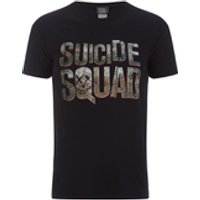 DC Comics Mens Suicide Squad Logo T-Shirt - Black - M