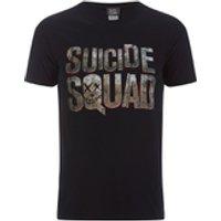 DC Comics Mens Suicide Squad Logo T-Shirt - Black - L