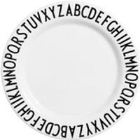 Design Letters Kids Collection Melamin Plate - White