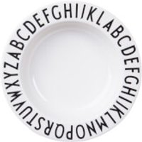 Design Letters Kids Collection Melamine Plate - White