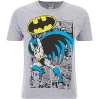 DC Comics Mens Batman Comic Strip T-Shirt - Grey - S