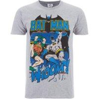 DC Comics Mens Batman and Robin T-Shirt - Grey - S