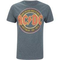 AC/DC Mens Est 73 T-Shirt - Dark Heather - M