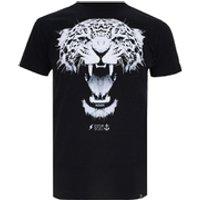 Cotton Soul Mens Leopard T-Shirt - Black - S