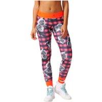 adidas Womens Stella Sport Print Training Tights - Blue/Pink - M