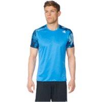 adidas Mens Response Graphic Running T-Shirt - Blue - XS