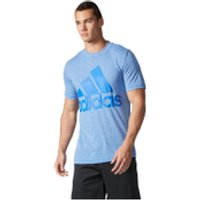 adidas Mens Basic Logo Training T-Shirt - Blue - XL
