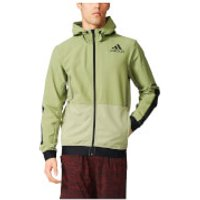 adidas Mens Workout Full Zip Training Hoody - Green - M