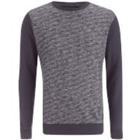 Brave Soul Mens Stone Zip Sweatshirt - Navy - M