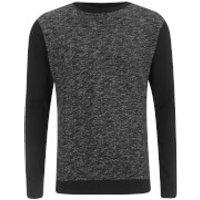 Brave Soul Mens Stone Zip Sweatshirt - Black - L