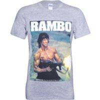Rambo Mens Gun T-Shirt - Grey - XL
