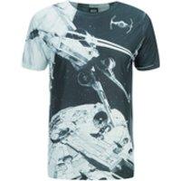 Star Wars Mens Space Battle T-Shirt - Black - S