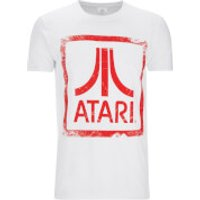 Atari Mens Square Logo T-Shirt - White - M